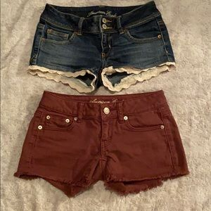 American Eagle Outfitters Shorts - American Eagle low waisted jean shorts size 0-2